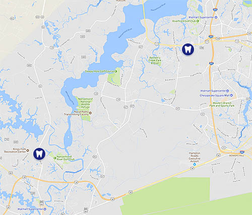 Suffolk VA Orthodontist Locations